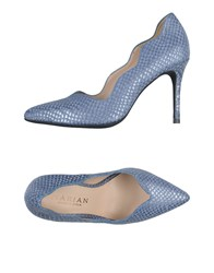 Marian Pumps Slate Blue