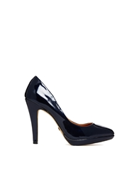 Ravel Platform Court Shoes Navy