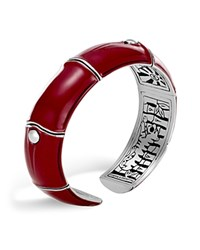John Hardy Sterling Silver And Deep Red Enamel Bamboo Kick Cuff 100 Bloomingdale's Exclusive Red Silver