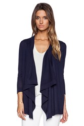 Autumn Cashmere Waterfall Cardigan Navy