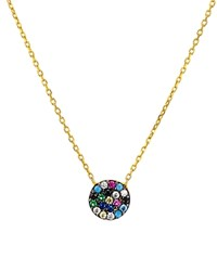 Aqua Sterling Silver Long Pendant Necklace 15 100 Exclusive Gold