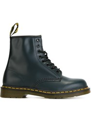 Dr. Martens Lace Up Combat Boots Blue