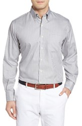 Peter Millar Men's Crown Soft Gingham Regular Fit Sport Shirt Light Grey