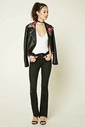Forever 21 Distressed Skinny Jeans Black