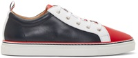 Thom Browne Tricolor Leather Low Top Sneakers