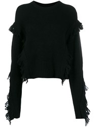 3.1 Phillip Lim Fringe Trimmed Jumper Black