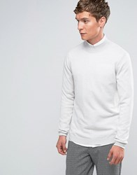 Asos Turtle Neck Jumper In Merino Wool Light Grey