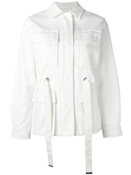 Joseph Belted Jacket Red