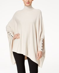 Alfani Turtleneck Poncho Sweater Created For Macy's Polished Beige