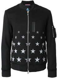 Guild Prime Star Print Bomber Jacket Black