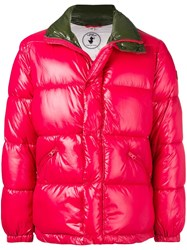 Save The Duck Padded Bomber Jacket Red