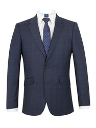 Aston And Gunn Ardsley Check Tailored Jacket Navy