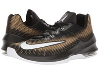 Nike Air Max Infuriate Low Black White Metallic Gold Men's Basketball Shoes