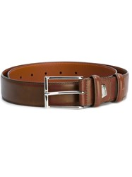 Santoni Buckled Belt Men Calf Leather 90 Brown