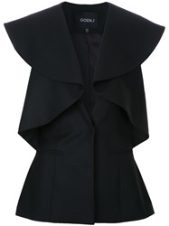 Goen.J Ruffled Fitted Jacket Black