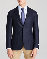 Canali Boucle Kei Classic Fit Sport Coat Navy Blue