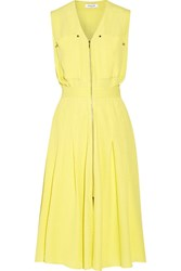Thierry Mugler Cloque Dress Bright Yellow