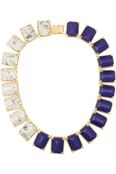 Lele Sadoughi Gardenia Gold Plated Howlite And Marble Necklace