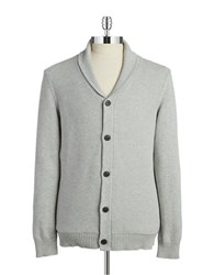 7 Diamonds Textured Button Front Cardigan Light Grey