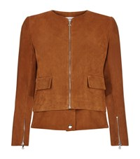 Sandro Violetta Suede Double Hem Jacket Female Red