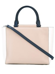 Max Mara Colour Block Tote Nude Neutrals