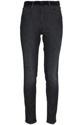 Maje Faded High Rise Skinny Jeans Dark Gray