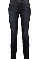 Current Elliott The Stiletto Mid Rise Studded Skinny Jeans Black