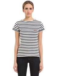 Maison Labiche Cherie Embroidery Striped Jersey T Shirt