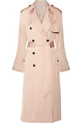 Elizabeth And James Aaron Satin Trench Coat Peach