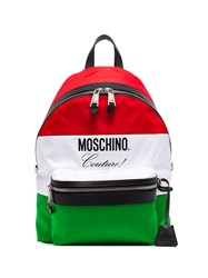 Moschino Multicoloured Italy Flag Backpack