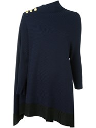 Rag And Bone Cape Style Jumper Blue
