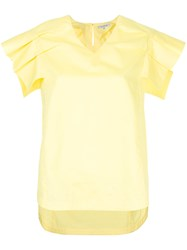 Guild Prime Pleated Sleeve Blouse Yellow And Orange