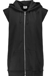 Oak Cotton Blend Hooded Vest Black