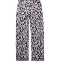 Sleepy Jones Marcel Printed Cotton Pyjama Trousers Blue