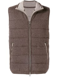 N.Peal The Mall Quilted Gilet Brown