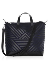 Uri Minkoff Zip Top Tote Bag Navy