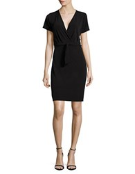 T Tahari Trish Tie Accented Dress Black