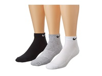 Nike Cotton Cushion Low Cut With Moisture Management 3 Pair Pack Grey Heather Black White Black Black White Men's Low Cut Socks Shoes Multi