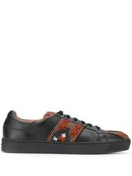 Etro Embroidered Low Top Sneakers Black