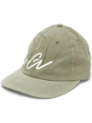 Greg Lauren Logo Embroidered Cap Green