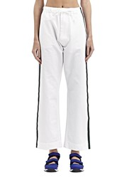 Marni Painted Stripe Jeans White