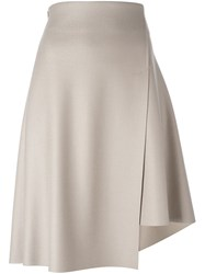 08Sircus Asymmetric Wrap Skirt Nude And Neutrals