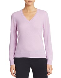 Lord And Taylor Plus Basic V Neck Cashmere Sweater Lavender