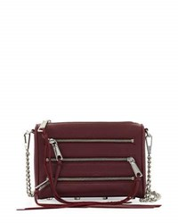 Rebecca Minkoff Smith Mini 5 Zip Crossbody Bag Port
