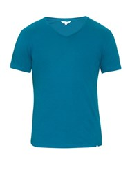 Orlebar Brown Ob V Cotton T Shirt Blue