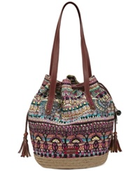 Sakroots Drawstring Tote Orchid One World