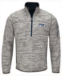 G3 Sports Men's Seattle Seahawks Fast Pace Quarter Zip Pullover Gray Navy