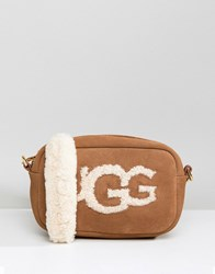 Ugg Janey Chestnut Sheepskin Crossbody Bag Tan