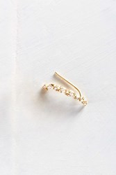 Urban Outfitters Tiny Love Rhinestone Ear Climber Earring Gold