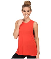 Alo Yoga High Low Muscle Tank Top Poppy Women's Sleeveless Red